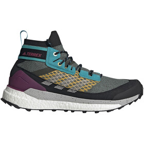 adidas TERREX Free Hiker Blue Scarpe da trekking Uomo, legend earth/grey two/signal cyan